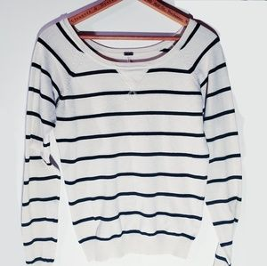Poof black and white striped sweater